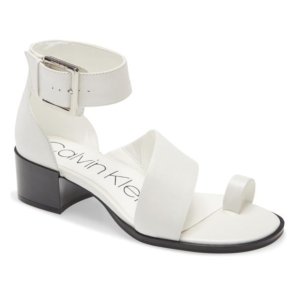 カルバンクライン レディース サンダル シューズ Calvin Klein Pepa Sandal (Women) White Leather