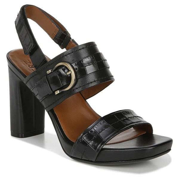 ナチュライザー レディース サンダル シューズ Naturalizer Joyce Sandal (Women) Black Croco Leather