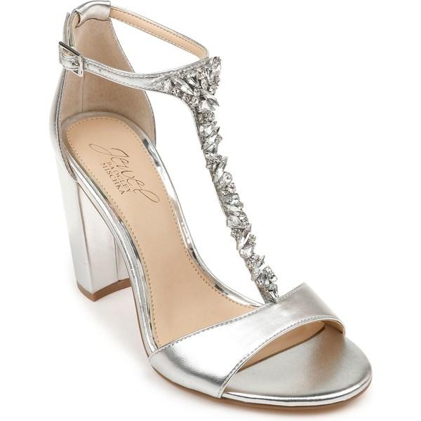 ジュウェルダグレイミシュカ レディース サンダル シューズ Jewel Badgley Mischka Benton Block Heel Sandal (Women) Silver Metallic