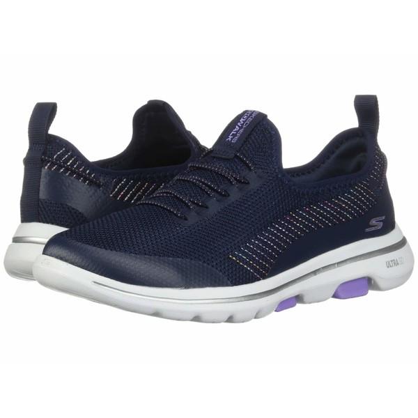 スケッチャーズ レディース スニーカー シューズ Go Walk 5 - 15918 Navy/Lavender