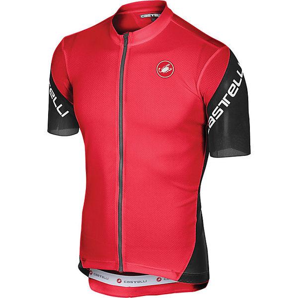 カステリ メンズ サイクリング スポーツ Castelli Men's Entrata 3 Full Zip Jersey Red