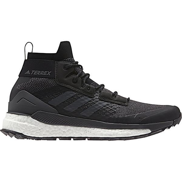 アディダス メンズ ハイキング スポーツ Adidas Men's Terrex Free Hiker Boot Black / Grey Six / Active Orange