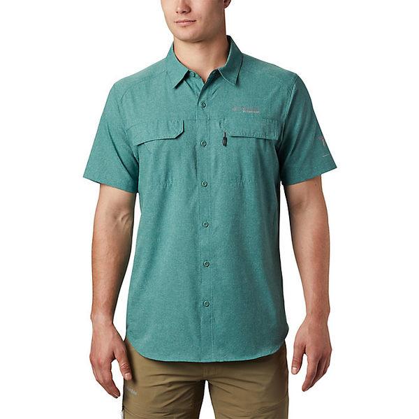 コロンビア メンズ ハイキング スポーツ Columbia Men's Irico SS Shirt Thyme Green