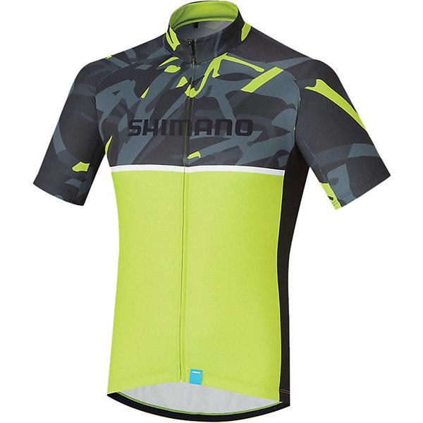 シマノ メンズ サイクリング スポーツ Shimano Men's Team Jersey Yellow