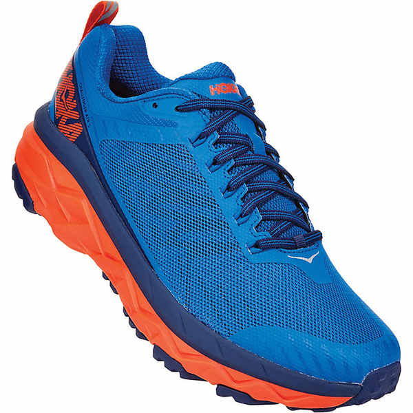 ホッカオネオネ メンズ ランニング スポーツ Hoka One One Men's Challenger Atr 5 Shoe Imperial Blue / Mandarin Red