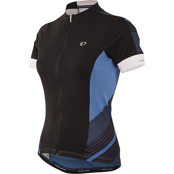 パールイズミ レディース シャツ トップス Pearl Izumi Women's ELITE Pursuit SS Jersey Black / Sky Blue Stripe