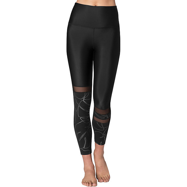 ビヨンドヨガ レディース フィットネス スポーツ Beyond Yoga Women's Flashback Paneled High Waisted Midi Legging Monstera Leaf Silver / Black