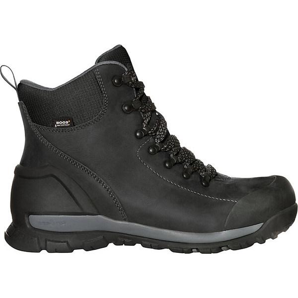 ボグス メンズ ブーツ&レインブーツ シューズ Bogs Men's Foundation Leather Mid Waterproof CT Boot Black