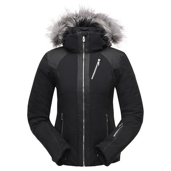 スパイダー レディース ジャケット&ブルゾン アウター Spyder Women's Amour Faux Fur Jacket Black / Black