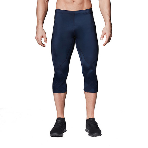 CW-X メンズ ランニング スポーツ CW-X Mens Stabilyx Joint Support Compression Tights True Navy