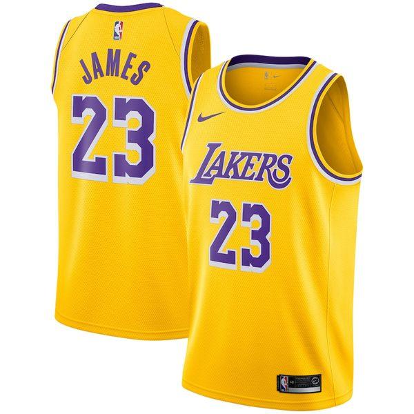 ナイキ メンズ シャツ トップス LeBron James Los Angeles Lakers Nike 2018/19 Swingman Jersey Gold Icon Edition