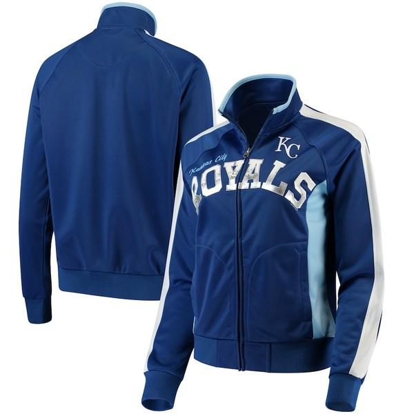 カールバンクス レディース ジャケット&ブルゾン アウター Kansas City Royals G-III Sports by Carl Banks Women's Breaking Ball Full-Zip Track Jacket Royal