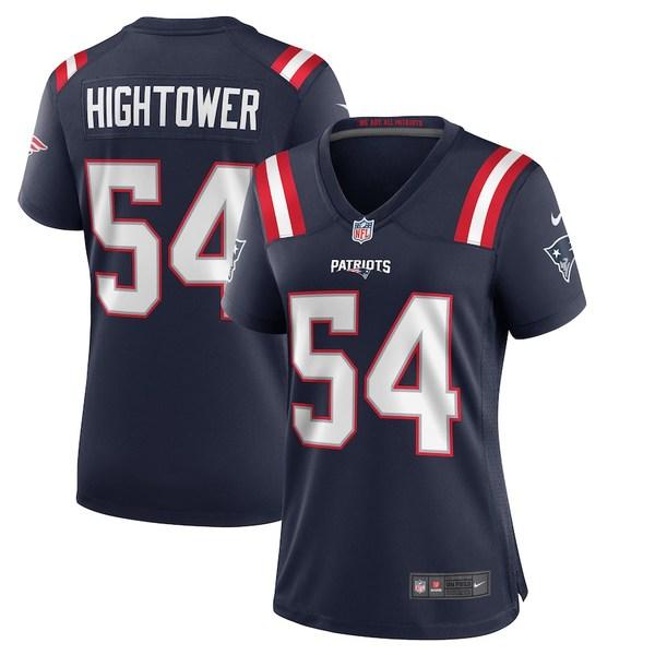 ナイキ レディース シャツ トップス Dont'a Hightower New England Patriots Nike Women's Game Jersey Navy