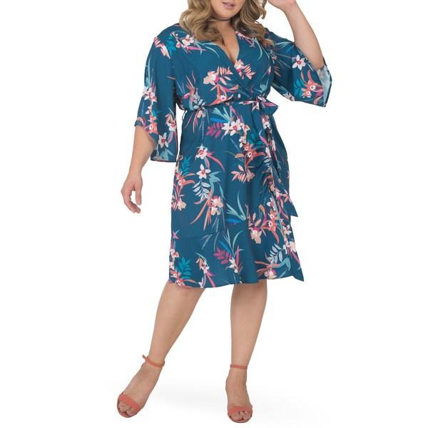 スタンダーズアンドプラクティス レディース トップス ワンピース Tropical Mist 全商品無料サイズ交換 スタンダーズアンドプラクティス レディース ワンピース トップス Wrap Dress Tropical Mist