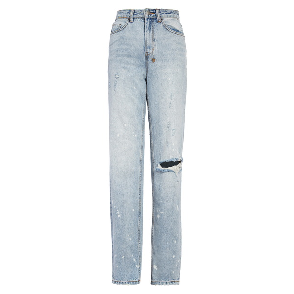 スビ レディース デニムパンツ ボトムス Playback Ripped Straight Leg Jeans Surf Bunz