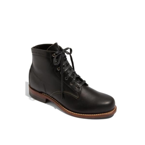 ウルヴァリン メンズ ブーツ&レインブーツ シューズ '1000 Mile' Plain Toe Boot Black