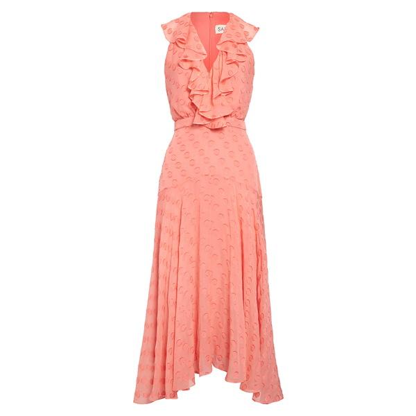 サローニ レディース ワンピース トップス Rita Ruffle Dress Watermelon Pink