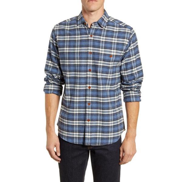 ファエティ メンズ シャツ トップス Seaview Long Sleeve Flannel Button-Up Shirt Wagoneer Plaid
