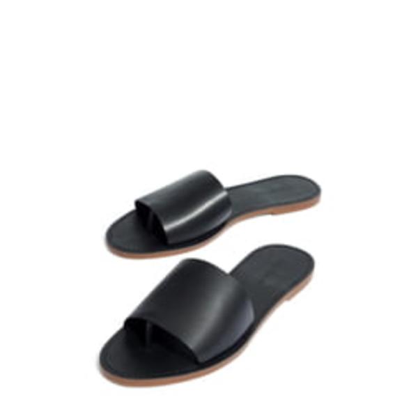 メイドウェル レディース サンダル シューズ Boardwalk Post Slide Sandal True Black Leather