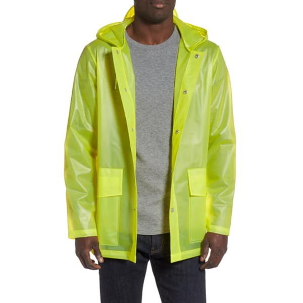 レインズ メンズ ジャケット&ブルゾン アウター Hooded Rain Jacket Foggy Neon Yellow
