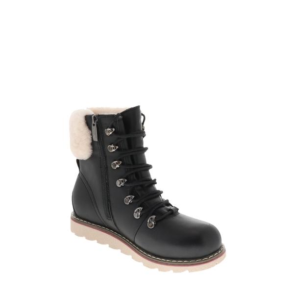 ロイヤルカナディアン レディース ブーツ&レインブーツ シューズ Cambridge Waterproof Snow Boot with Genuine Shearling Cuff Black Leather