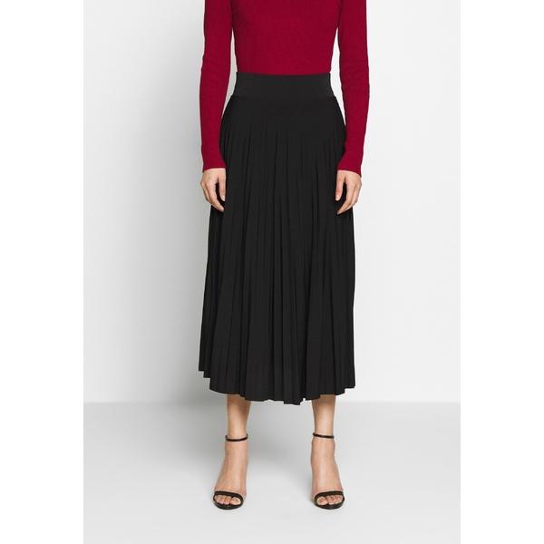 注文後の変更キャンセル返品 全商品オープニング価格 アンナフィールド レディース ボトムス スカート black 全商品無料サイズ交換 A-line skirt midi Plisse - nhhu0177