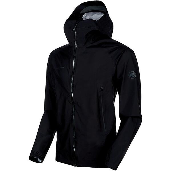 マムート メンズ ジャケット&ブルゾン アウター Mammut Men's Masao Light Hardshell Hooded Jacket Black / Phantom