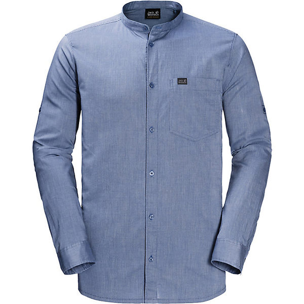 ジャックウルフスキン メンズ シャツ トップス Jack Wolfskin Men's Indian Springs Shirt Dusk Blue Stripes
