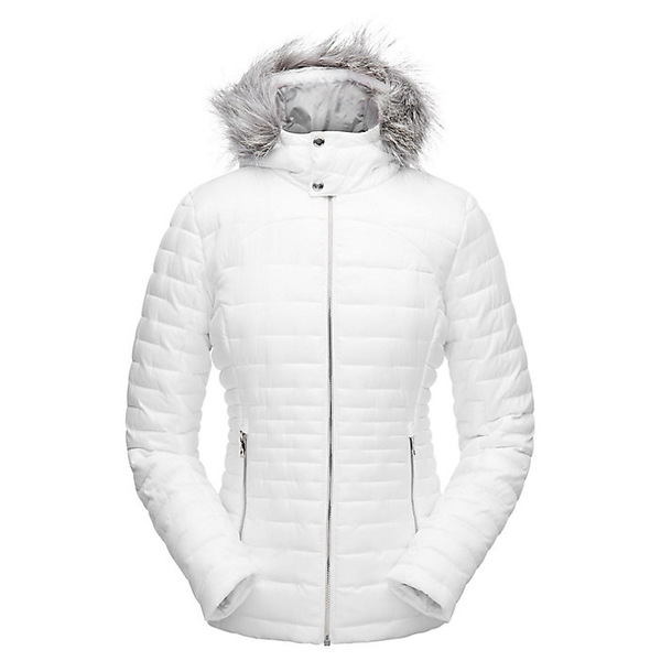 スパイダー レディース ジャケット&ブルゾン アウター Spyder Women's Edyn Hoody Insulated Jacket White / White