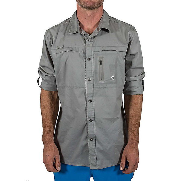 グラミチ メンズ ハイキング スポーツ Gramicci Men's LS No-Squito Shirt Stainless Steel