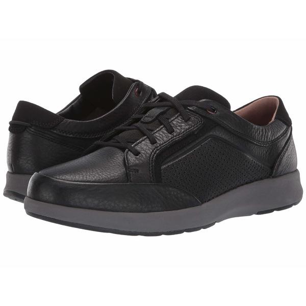 クラークス メンズ スニーカー シューズ Un Trail Form Black Tumbled Leather