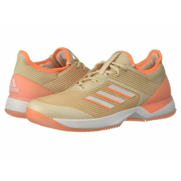 アディダス レディース スニーカー シューズ adizero Ubersonic 3 Linen/Footwear White/Flash Orange