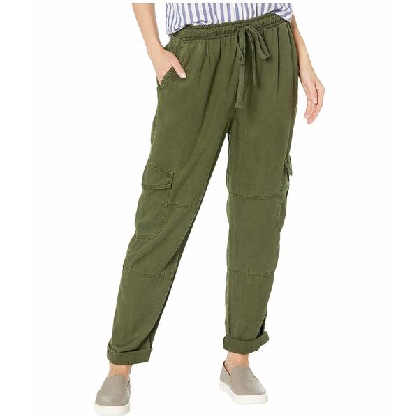 ベラダール レディース カジュアルパンツ ボトムス High-Waisted Cargo Pants in Crosshatch Tencera Woodland Olive