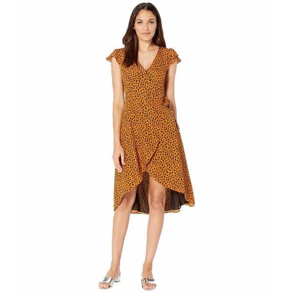ビービーダコタ レディース ワンピース トップス Pending Leopard Print Wrap Dress Amber