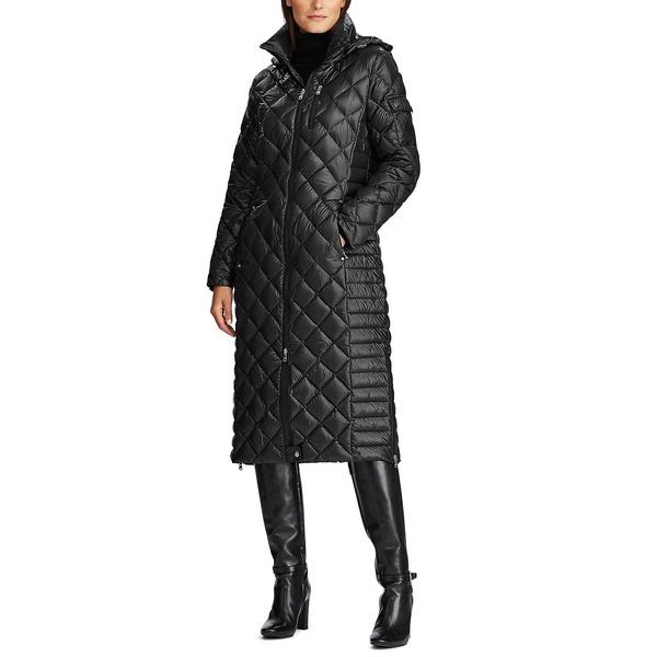 期間限定特別価格 ラルフローレン レディース コート アウター Petite Hooded Quilted Down Coat Black, 快適グッズショップ 3fd75c21