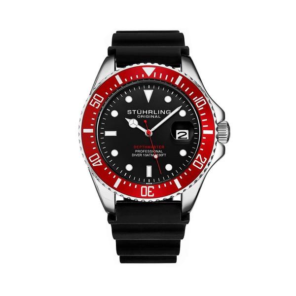最愛 スターリング レディース 腕時計 アクセサリー Men's Black Silicone Rubber Strap Watch 42mm Black, アツミマチ ae69b75d