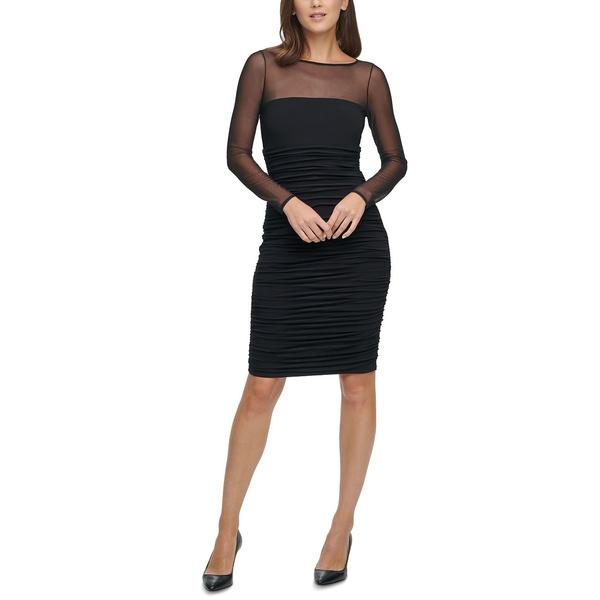 安いそれに目立つ エリザジェイ エリザジェイ レディース ワンピース トップス トップス Black Illusion-Mesh Bodycon Dress Black, テニスShop 緑ヶ丘テニスガーデン:75df54c2 --- bungsu.net