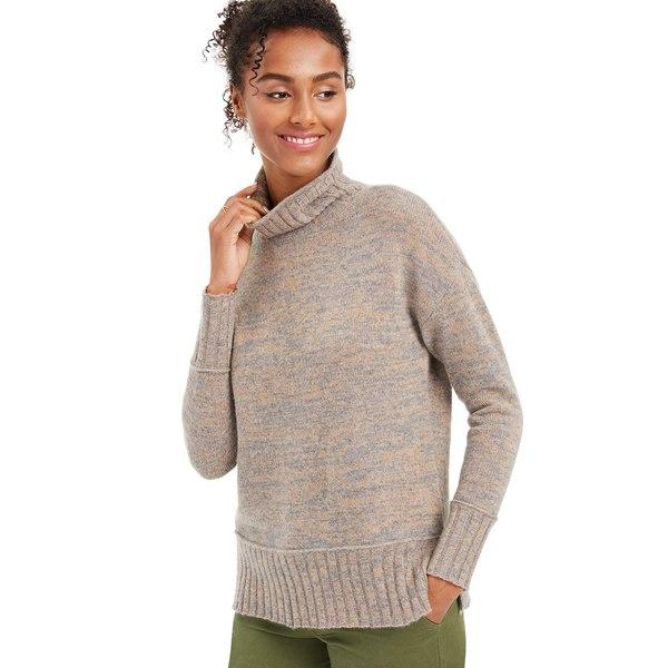 Petite Marled Grey Sweater, Cashmere ニット&セーター Sizes, Heather レディース Turtleneck アウター & Regular Mid チャータークラブ