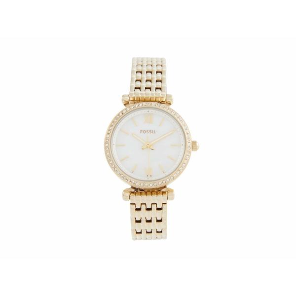フォッシル レディース 腕時計 アクセサリー 28 mm Mini Carlie - ES4735 Gold