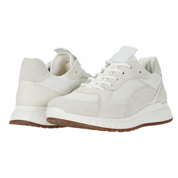 エコー レディース スニーカー シューズ ST.1 Trend Sneaker Shadow White/White/Shadow White/White Calf Suede/Yak Leather/Yak