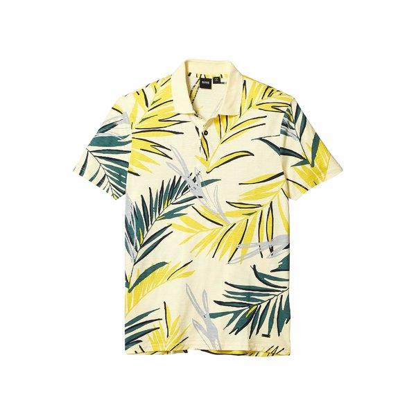 ヒューゴボス メンズ シャツ トップス Peleaf Tropical Print Polo Yellow