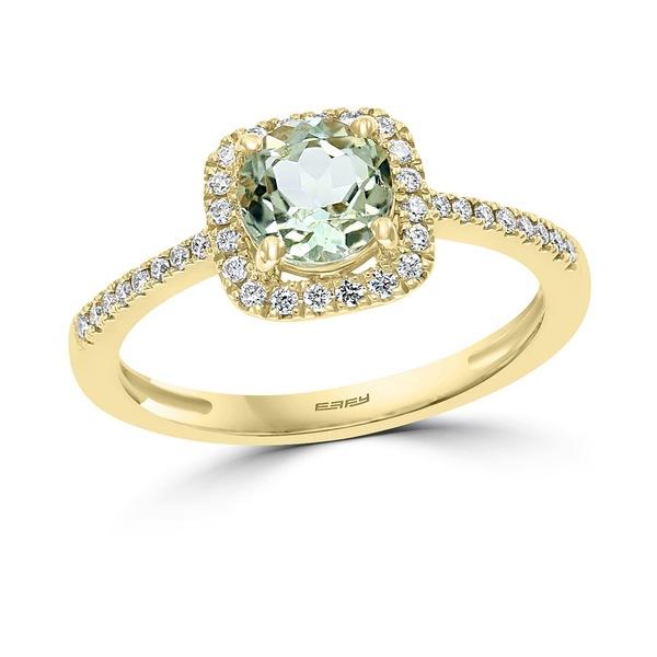 エフィー コレクション AL完売しました レディース アクセサリー リング Yellow 公式サイト Gol 全商品無料サイズ交換 EFFY® Green Quartz t.w. 1 8 ct. in 4 3 Ring Diamond Gold 14k