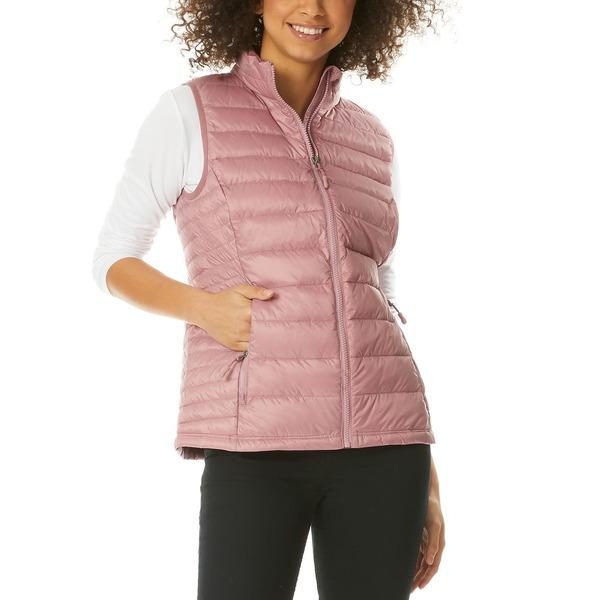 32ディグリー レディース アウター コート Minirature Rose 全商品無料サイズ交換 Vest Macy's 人気ブランド for おトク Puffer Packable Created Down