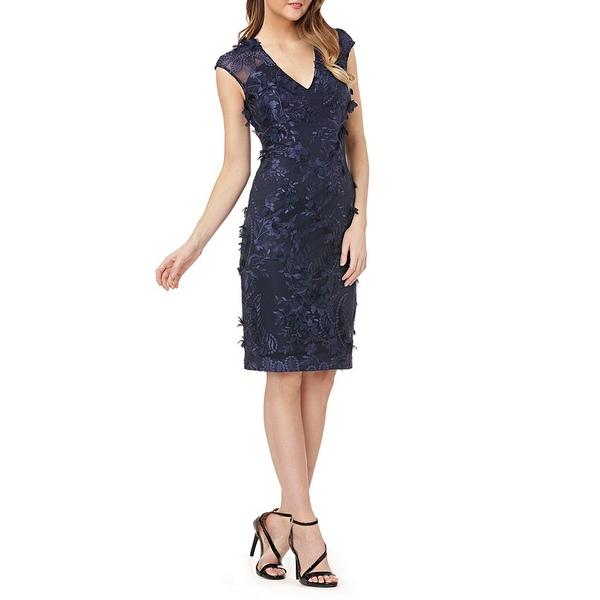 カルメンマークヴァルヴォ レディース Dress ワンピース トップス Embroidered Embroidered Sheath Dress Sheath Navy, 自転車通販チャレンジ21:09413f57 --- officewill.xsrv.jp