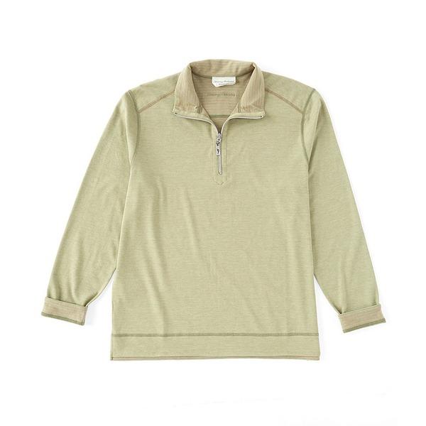 トッミーバハマ メンズ ニット&セーター アウター Ferrara Flip Half-Zip Pullover Dusty Thyme
