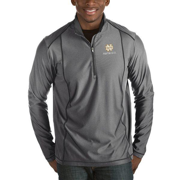 アンティグア メンズ ニット&セーター アウター NCAA Tempo Half-Zip Pullover Notre Dame Charcoal