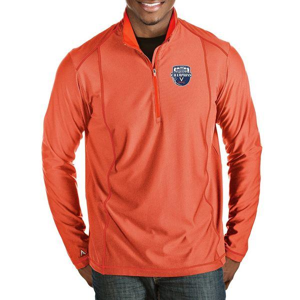 アンティグア メンズ ニット&セーター アウター NCAA National Champions Virginia Cavaliers Tempo Half-Zip Pullover Virginia Cavaliers Orange