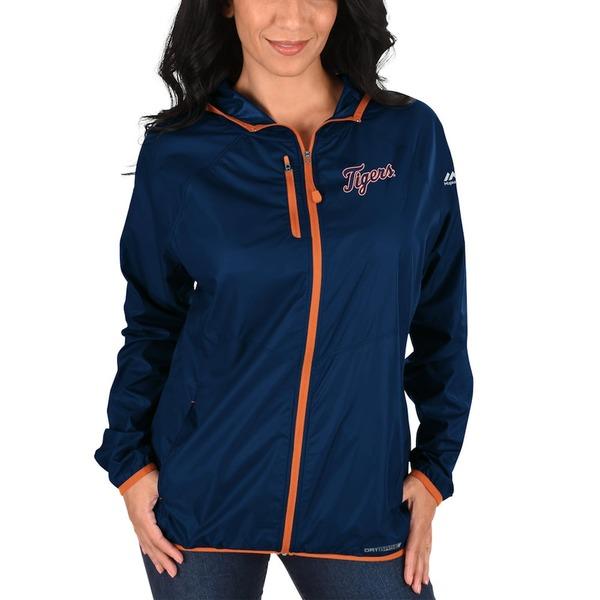 マジェスティック レディース ジャケット&ブルゾン アウター Detroit Tigers Majestic Women's Absolute Dominance Full-Zip Jacket Navy