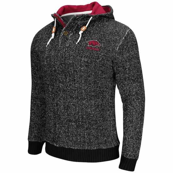 コロシアム メンズ シャツ トップス Arkansas Razorbacks Colosseum Camber Sweater Black