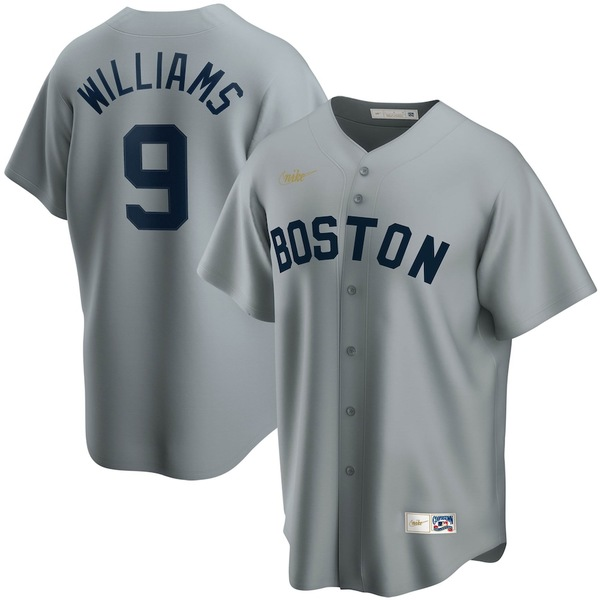ナイキ メンズ シャツ トップス Ted Williams Boston Red Sox Nike Road Cooperstown Collection Player Jersey Gray